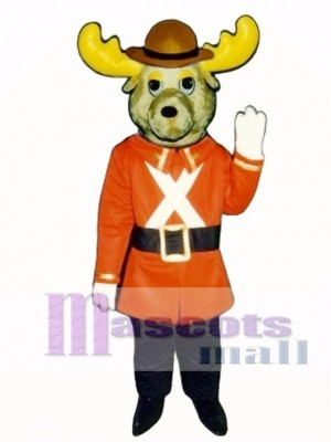 Cute Mountie Moose Mascot Costume Animal