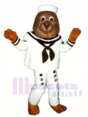 Cute Sailing Otter Mascot Costume Animal