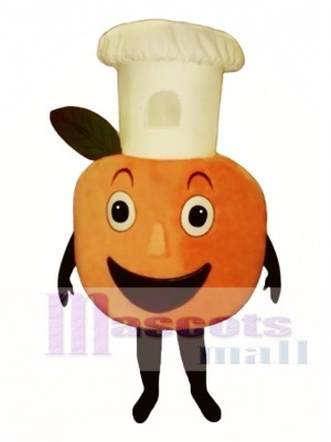 Baker Peach Mascot Costume Fruit
