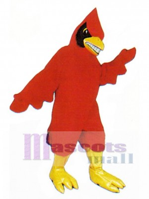 Happy Cardinal Mascot Costume Bird
