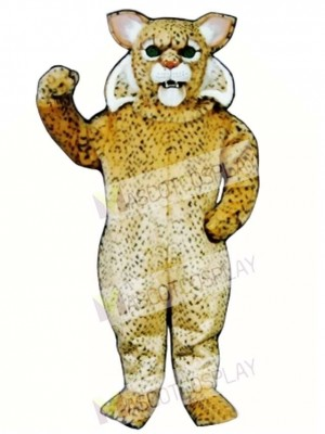 Cute Bobcat Cat Mascot Costume Animal