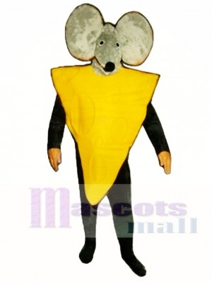 Cheese Slice with Mouse Hood Mascot Costume Animal