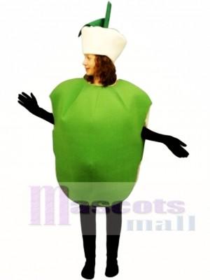 Green Apple Mascot Costume Fruit