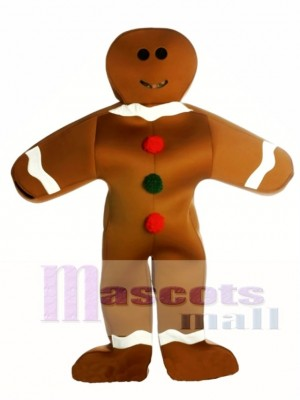 Gingerbread Man Christmas Mascot Costume Christmas Xmas
