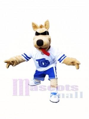 Bart Dog Mascot Costume Dog with SunGlasses Mascot Costume Animal Cartoon