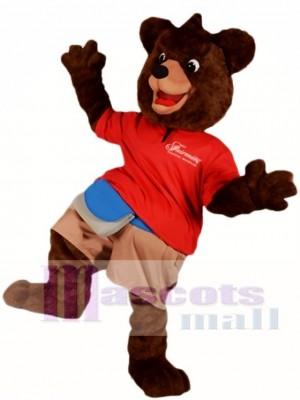 Dark Brown Bear Mascot Costumes Animal