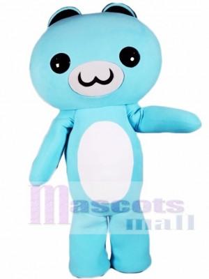 Light Blue Cartoon Bear Mascot Costumes Animal