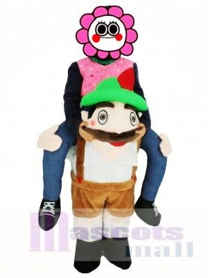 For Children/Kids PiggyBack Bavarian Oktoberfest Beer Guy Carry Me Ride On Stag Mascot Costume
