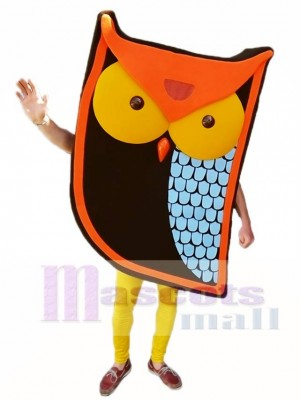 Cartoon Orange Owl Mascot Costumes Animal