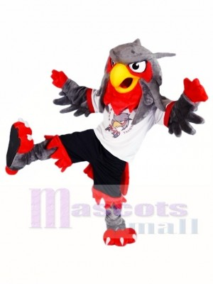 Black Pants Grey Eagle Owl Mascot Costumes Animal
