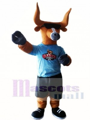 Cute Bull with Sunglasses Mascot Costumes Animal