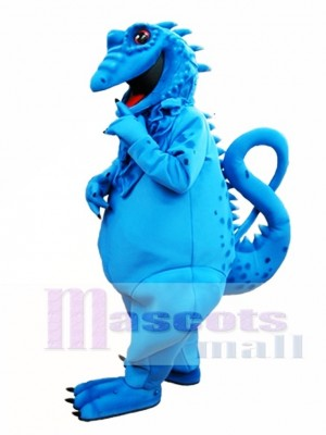 Blue Lizard Mascot Costume Blue Iguana Mascot Costume Animal