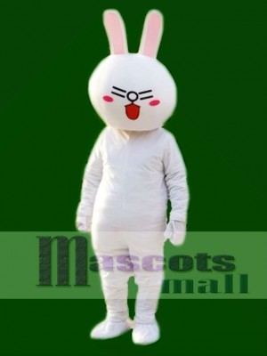 Laugh Cony Rabbit Bunny Mascot Costumes Line Town Friends