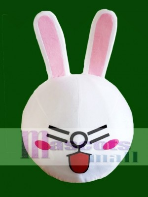 Laugh Cony Rabbit Bunny Mascot HEAD ONLY Line Town Friends