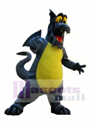 Gray Dragon with Yellow Belly Mascot Costume Dragon Mascot Costumes Animal
