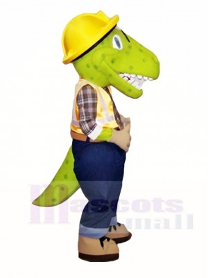 Green Male Dinosaur Mascot Costumes