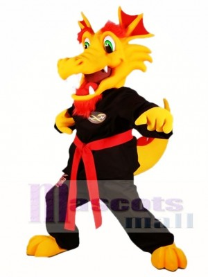 Yellow Kung Fu Dragon Mascot Costumes