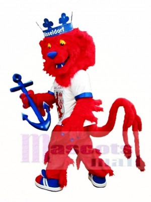 Cute Red Lion Mascot Costume King Lion Mascot Costumes Animal
