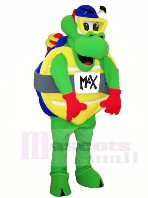 Green Sea Turtle Tortoise Mascot Costumes with Goggles Ocean