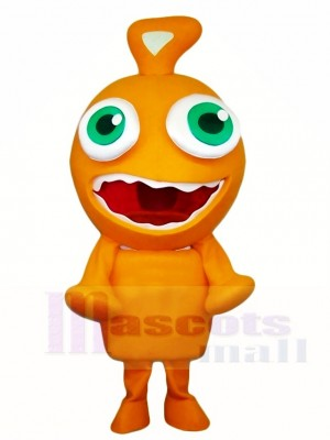 Orange Alien Mascot Costumes