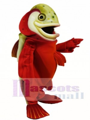 Cute Red Arctic Char Mascot Costumes Fish Animal