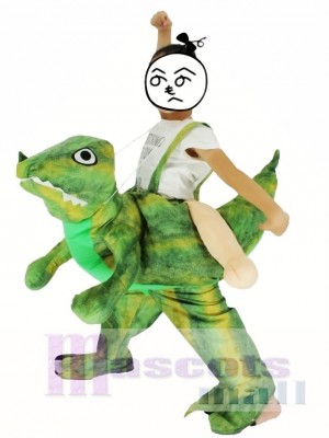 Children/ Kids Piggyback Carry Me Ride on Velociraptor Dinosaur Dragon Mascot Costume