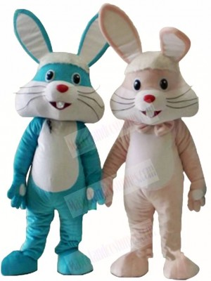 Pink/Blue Rabbit Easter Bunny Mascot Costumes Animal