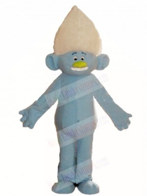 Trolls Guy Diamond Mascot Costumes Cartoon Silver Boy