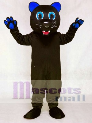 Sir Purr with Royal Blue Ears Mascot Costume of the Carolina Panthers