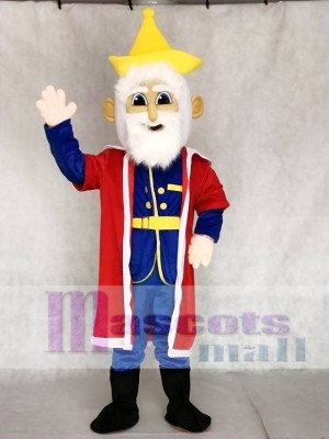 Old King with Red Cloak Mascot Costumes