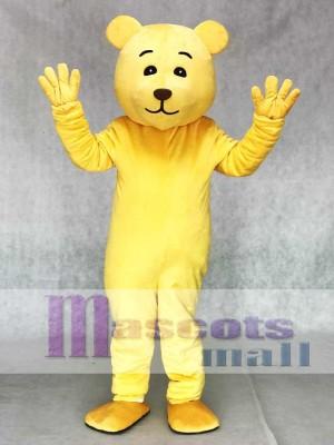 Lovely Yellow Teddy Bear Mascot Costume Animal