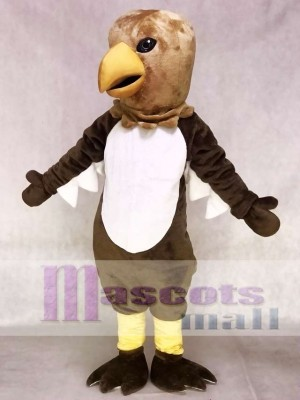 Cute Brown Tail Hawk Mascot Costume Animal