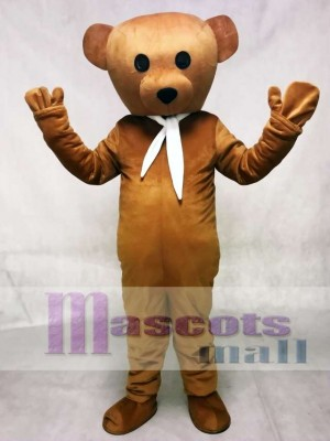 Brown Cook Bear Mascot Adult Costume Animal