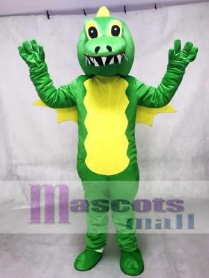 Green Stegosaurus Dinosaur Adult Mascot Costume