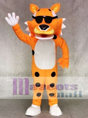 Cute Orange Chester Cheetah with SunGlasses Mascot Costume Animal