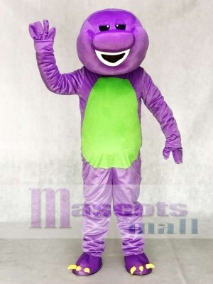 Purple Barney Dinosaur Mascot Costume Animal