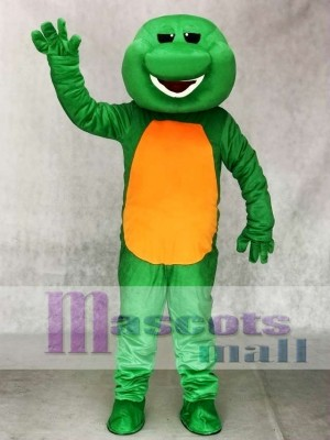 Green Barney Dinosaur Adult Mascot Costume Animal