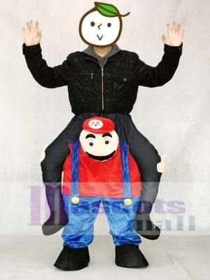 Super Mario Bros Carry Me Ride Mario Mascot Costume Piggyback Costume