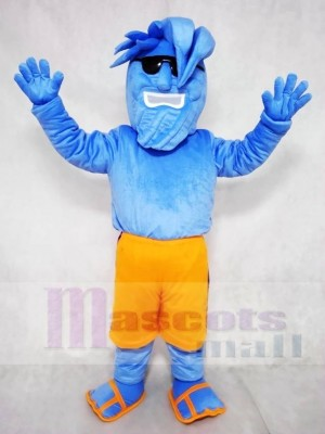 Willy the Wave Blue Waves with Sunglasses Mascot Costume People