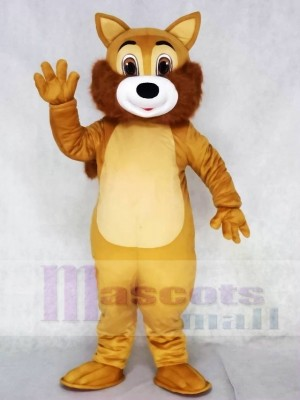 Brown Squirrel Mascot Costumes with Tan Belly Animal