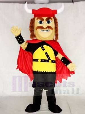 Red Strong Odin Viking Mascot Costumes People