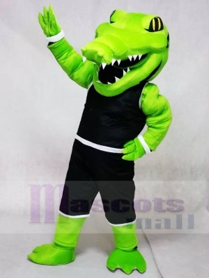 Power Gator with Sport Suit Mascot Costumes Animal