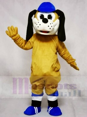Cute Dog in Blue Hat Mascot Costumes Animal