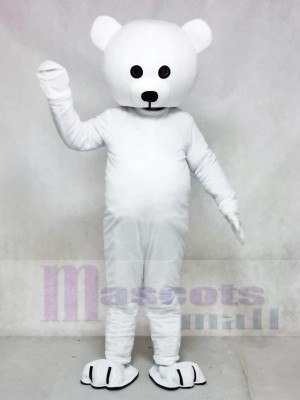 Black Nose White Bear Mascot Costume Animal