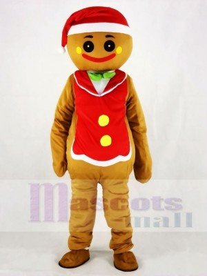 Red Hat Gingerbread Man Christmas Mascot Costumes People