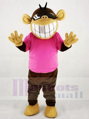 Funny Monkey in Pink T-shirt Mascot Costumes Animal