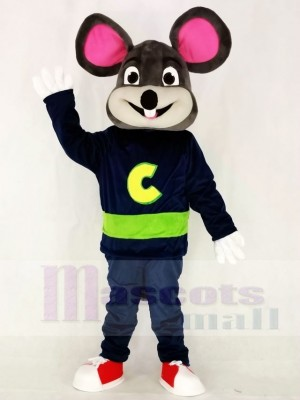 Dark Gray Chuck E. Cheese Fast Food Promotion Mascot Costumes Animal