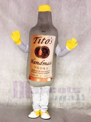 Gray Vodka Wine Bottle Mascot Adult Costume