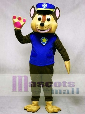 Paw Patrol Chase Mascot Costume German Shepherd Dog Mascot Puppy