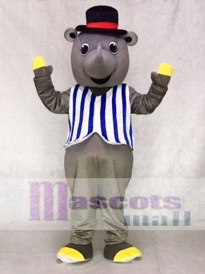 R.I. Nocerous Rhino with Vest & Hat Mascot Costumes Animal